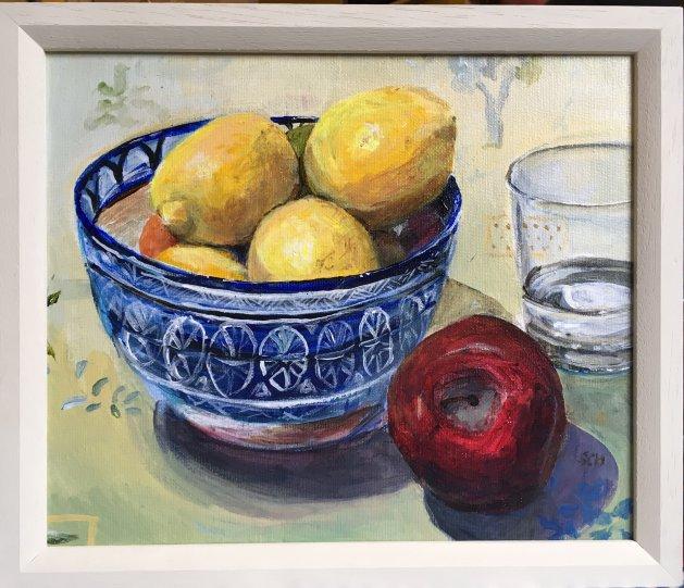 Tuscan Kitchen. Original art by Sarah Nesbitt
