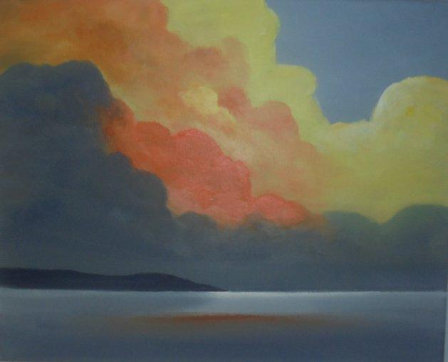 Amber Clouds. Original art by Steve Hawthorn