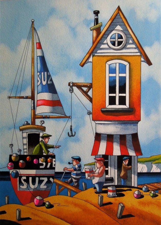 """ Cornwall Life "" 11x8. Original art by Paul Kiernan"