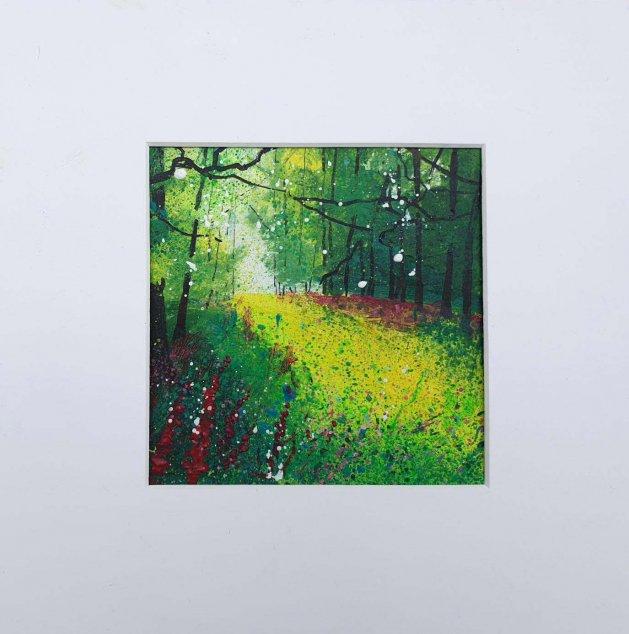Glimpse of Foxgloves, Spring. Original art by Teresa Tanner