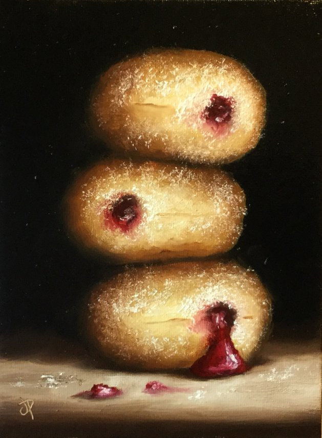 Donuts. Original art by Jane Palmer