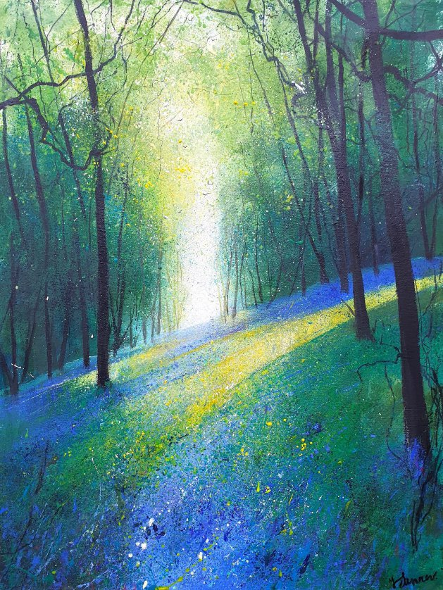 Light Across Bluebell Bank. Original art by Teresa Tanner