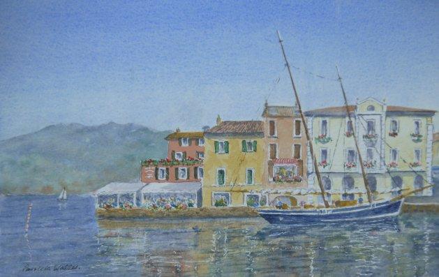 Malcesne Harbour 2. Original art by Patricia Waller