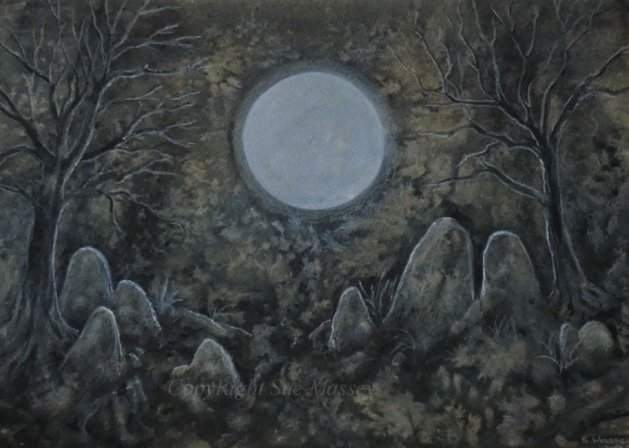 Sacred Stones.. Original art by Sue Massey