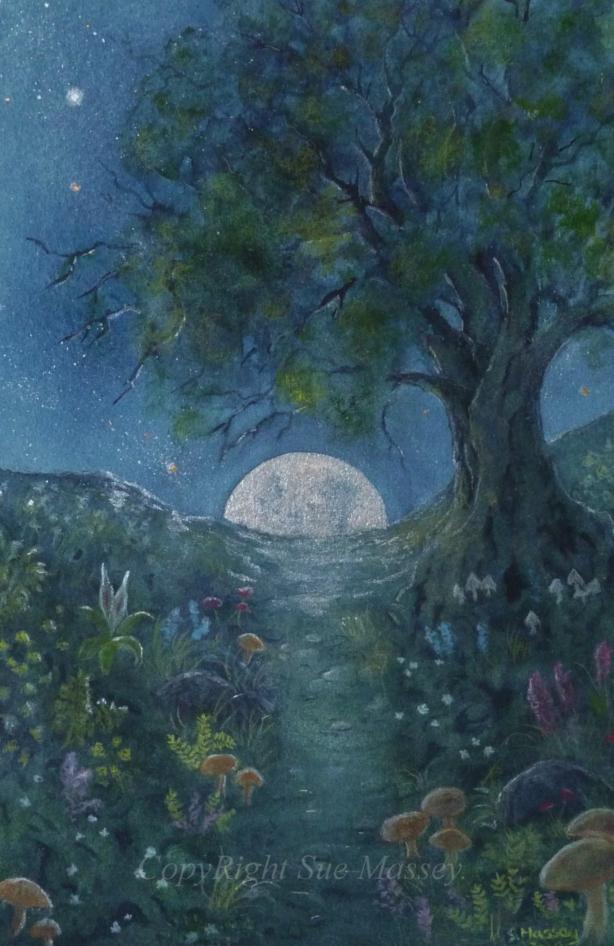 Enchanted Evening.. Original art by Sue Massey