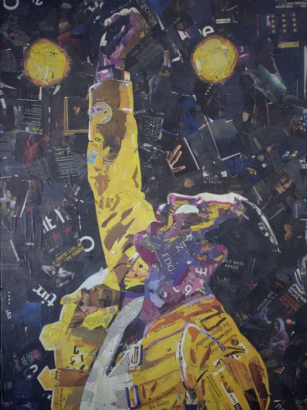 Freddie Mercury (Newspaper Art). Original art by Juan Sly