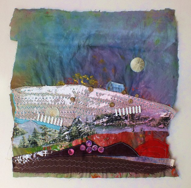 Barn on the Hill. Original art by Tracey Unwin
