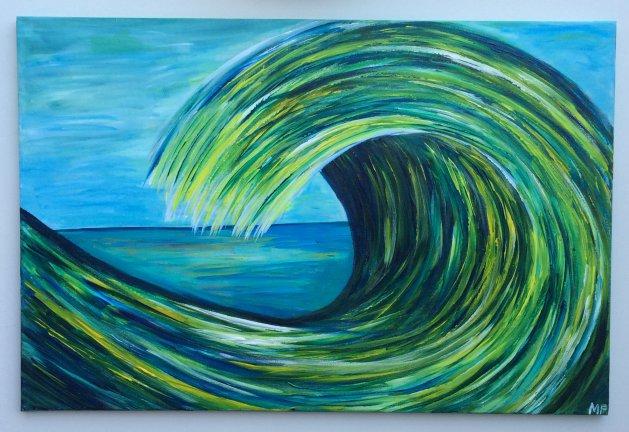 Colourwave II. Original art by Michelle Fernandes