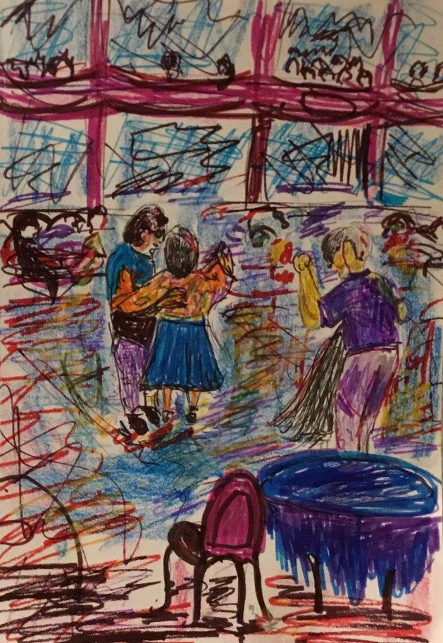 Blackpool Dancers. Original art by Genieslot