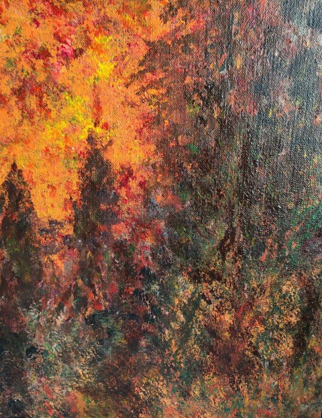 Forest Fire. Original art by Julian Tromans