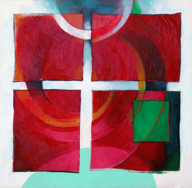 Four Square. Original art by Richard Carr
