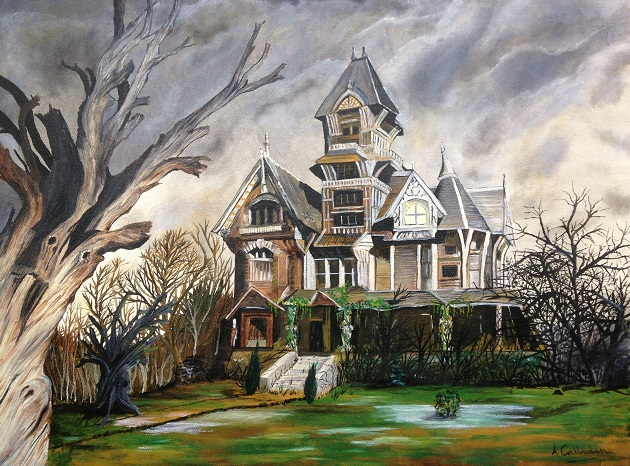 Haunted House. Original art by Andy Calladine