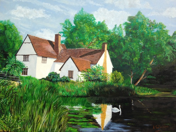 Willie Lotts Cottage. Original art by Andy Calladine