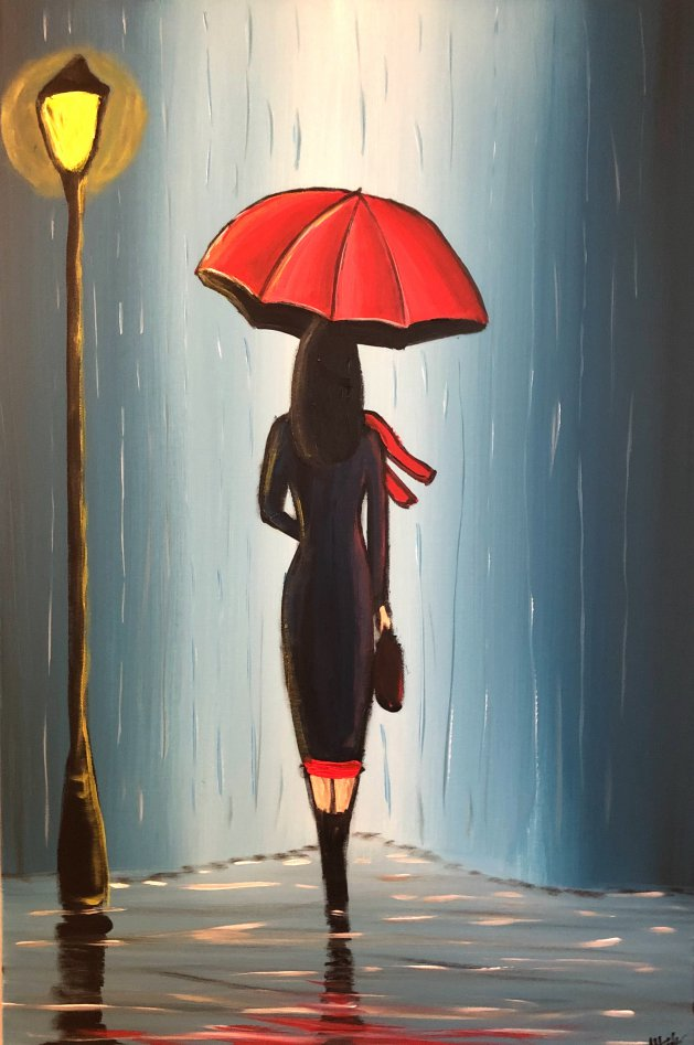 Midnight Umbrella 3. Original art by Aisha Haider