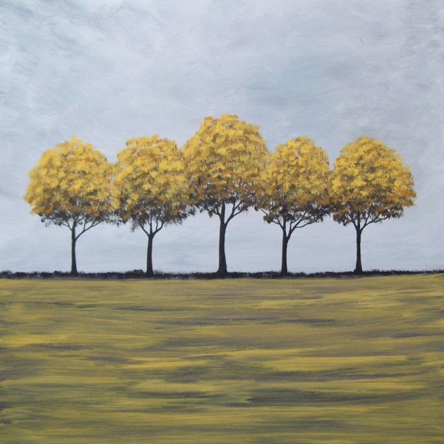 Yellow Trees. Original art by Patricia Richards