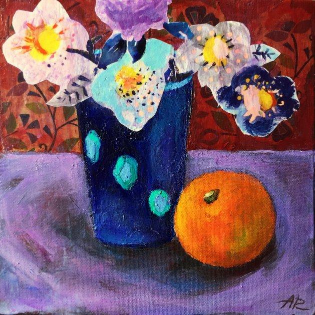 Sur la table. Original art by Alena Rumak