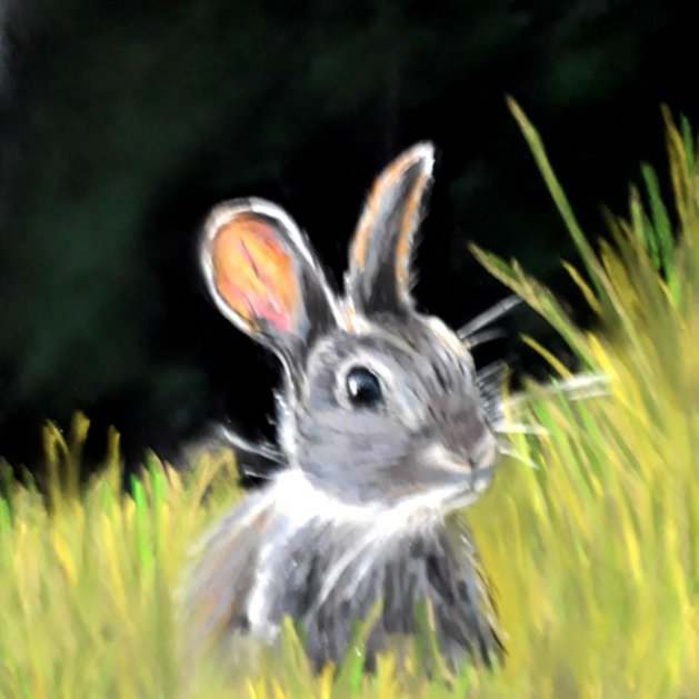 spring bunny. Original art by Jackie Marsh