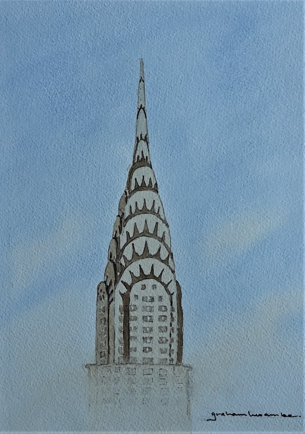 Chrysler Building. New York. Original art by Graham Luscombe