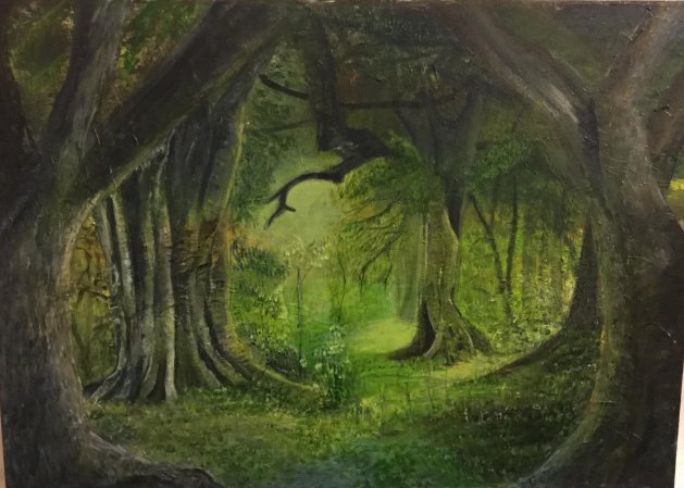 Green Glade. Original art by Cheryll Hodgson