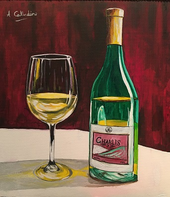 Bottle and Glass. Original art by Andy Calladine