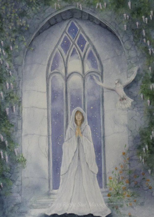 Pray.. Original art by Sue Massey