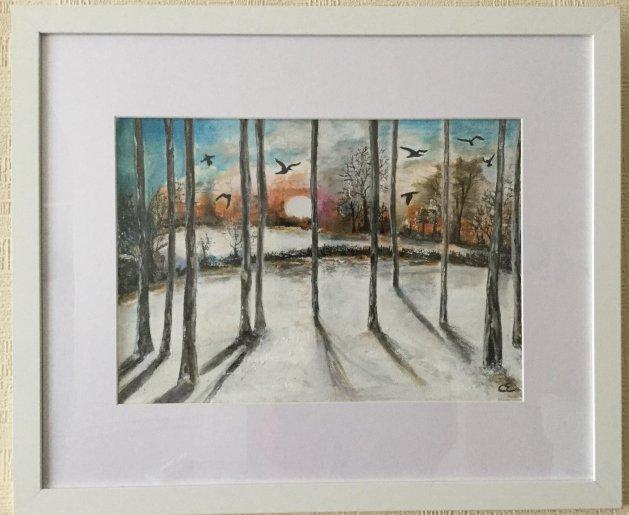 Snow Birds. Original art by Cheryll Hodgson