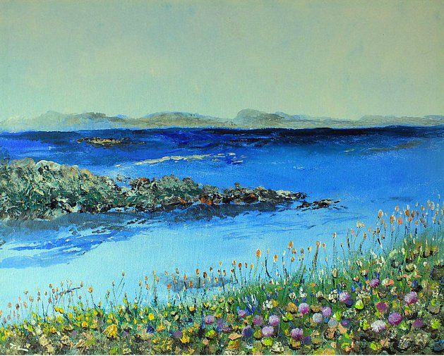 Sea of Blue. Original art by Tracey Unwin