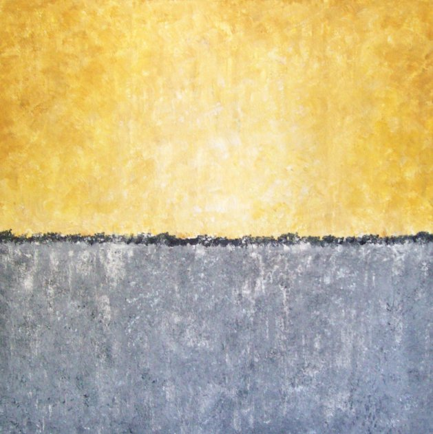 yellow/grey abstract. Original art by Patricia Richards