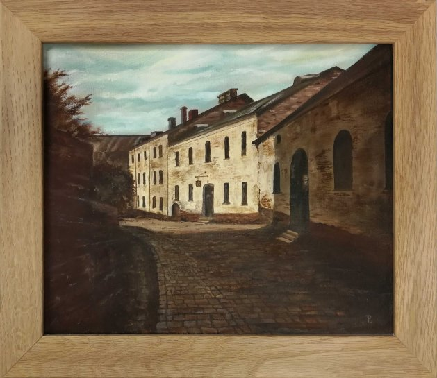 Vyborg, Russia Oil Painting. Original art by Peter Taylor