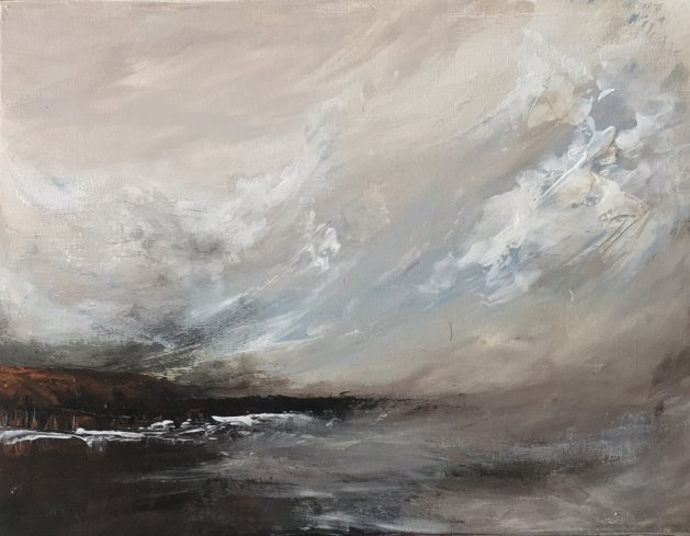 Space and light. Original art by Valerie Beales