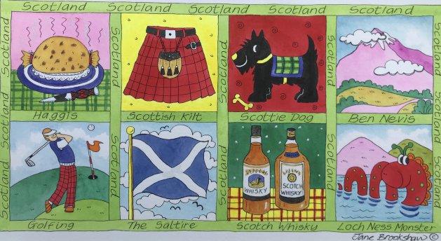 Scotland 1. Original art by Jane Brookshaw