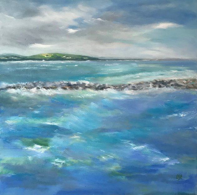 Choppy Waters. Original art by Linda Edward