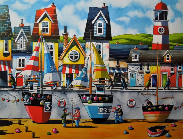 """ North Devon ""  15 x 12 "". Original art by Paul Kiernan"