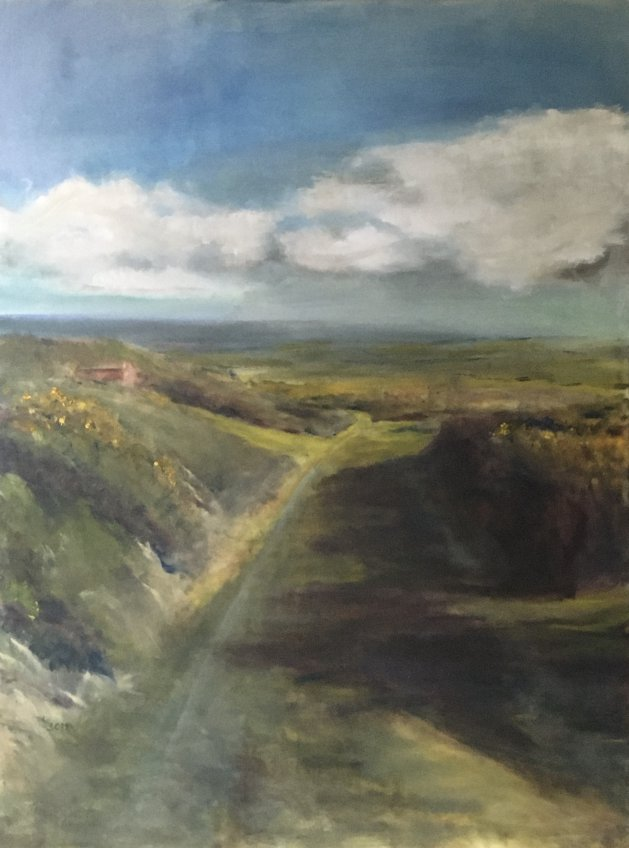 Sunshine in Uwchmynydd. Original art by Sarah Nesbitt