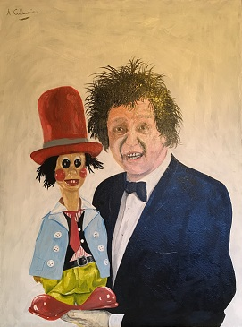 Ken Dodd. Original art by Andy Calladine