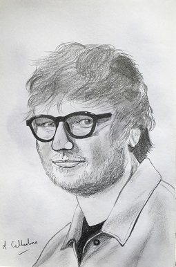 Ed Sheeran. Original art by Andy Calladine