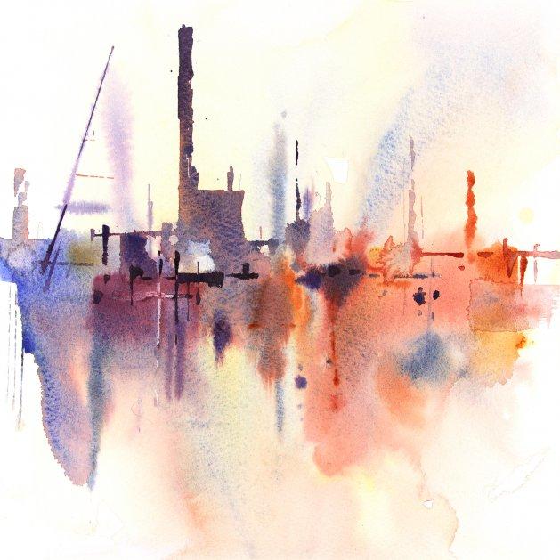 Abstract Industrial #3. Original art by Adrian Homersham