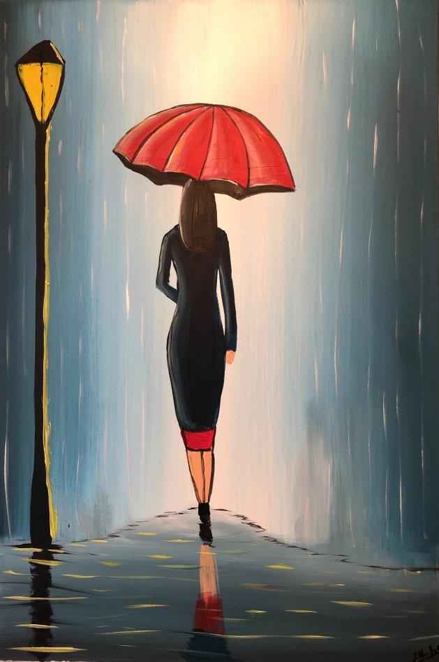 Midnight Umbrella 4. Original art by Aisha Haider