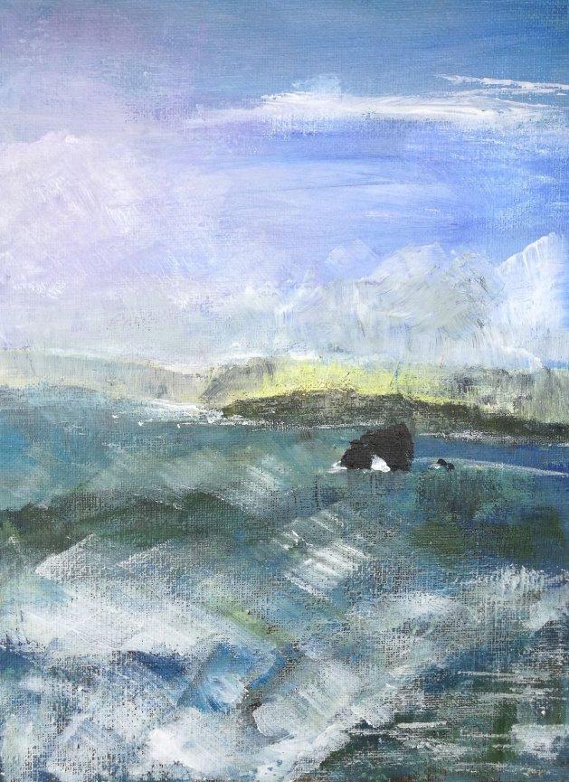 Cornish Coast III. Original art by Nikki Griffith