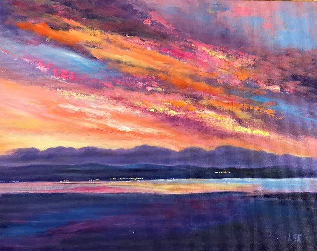 Fire Sky. Original art by Linda Edward