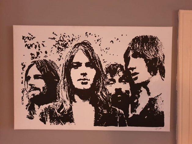 pink Floyd mono. Original art by William Pow