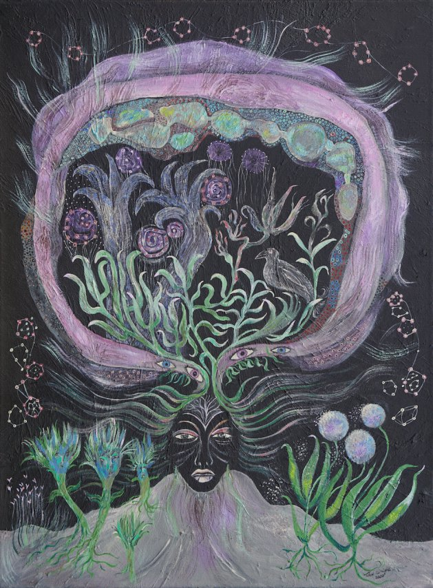 Way of the Mystic. Original art by Sue Wright