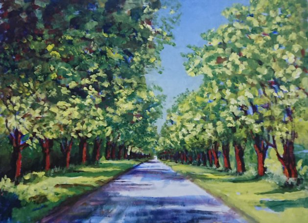 Kings Avenue Sandringham. Original art by John Walker