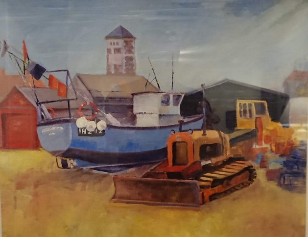 Boats Aldeburgh Suffolk. Original art by John Walker