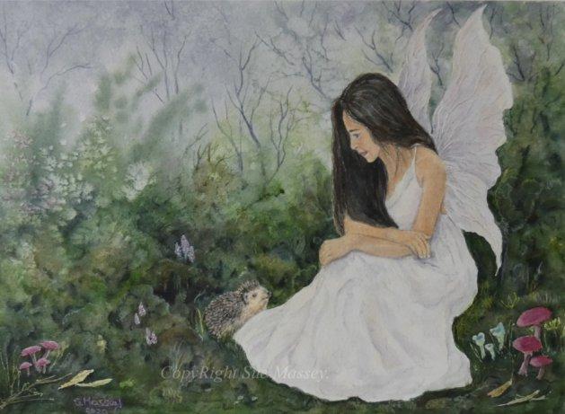 Cherished Moments.. Original art by Sue Massey