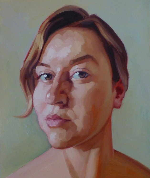 Portrait of a Young Woman. Original art by Nick Richards