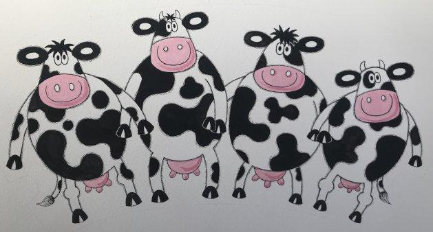 Herd Community. Original art by Jane Brookshaw