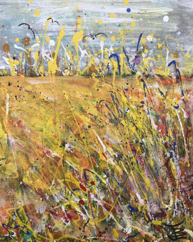 Fields of Gold 2. Original art by Jane Brookshaw