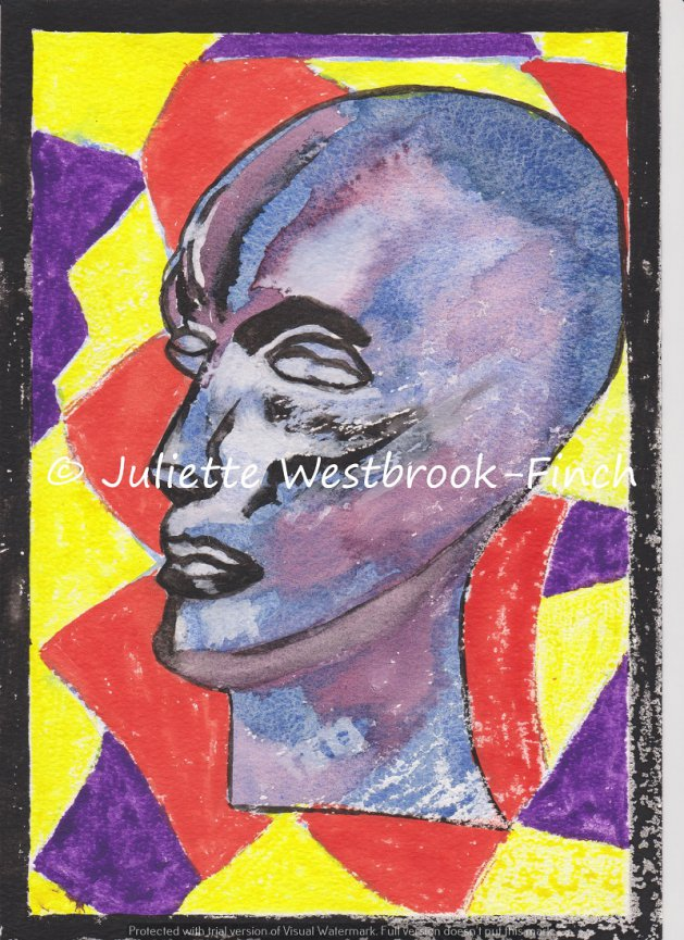 Do Aliens Cry? A4 Print with Poem. Original art by Juliette Westbrook-Finch
