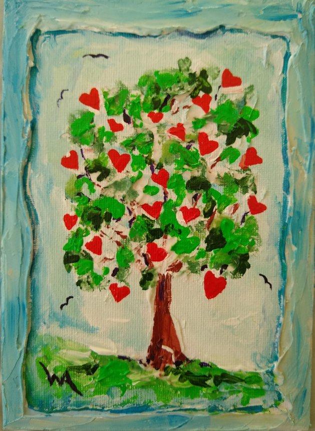 Tree of Hearts. Original art by Warren Armstrong